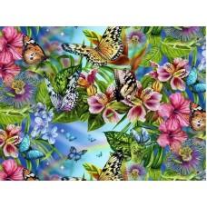 KS019/Бабочки - раскраски по номерам на картоне
