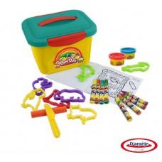 """Набор Play doh """"Маленькая мастерская"""", 4 минимаркера, 4 восковых мелка, 8 моделей животных, 2 цвета пасты для лепки (2х2), 10 листов бумаги. (D`arpeje Toys`n`fun, CPDO011)"""