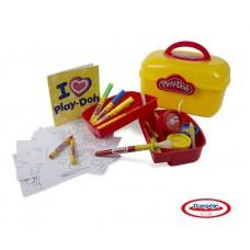 """Набор Play doh """"Сундучок художника"""", 5 маркеров, 5 восковых мелков, альбом, кисть, 3 баночки красок. (D`arpeje Toys`n`fun, CPDO013-PE)"""