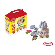 """Набор Play doh """"Вечеринка"""", 5 маркеров, 5 восковых мелков, 5 наклеек, 5 разноцветных колпаков и масок, 5 воздушных шаров. (D`arpeje Toys`n`fun, CPDO093)"""