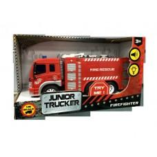 Машина Пожарная 1:16, от 3-х лет, инерционная, световые и звуковые эффекты, 28.5x8.5x16см (Dave Toy Ltd., 33016)