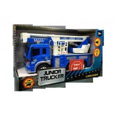 Кран (синий) 1:16, от 3-х лет, инерционный, световые и звуковые эффекты, 28.5x8.5x16см (Dave Toy Ltd., 33019)