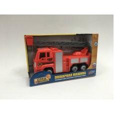 Пожарная машина инерционная, масштаб 1:18, без эффектов (Dave Toy Ltd., 33041)