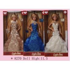 Кукла  в наборе с аксессуарами (туфельки,клатч) (DEFA, 8270d)