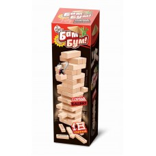 Игра настольная для взрослых и детей БАМ-БУМ. Падающая башня с фантами (Десятое королевство, 01741ДК)