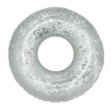 Круг надувной с глиттером, 2 цвета (серебряный/розовый) (109*32 см)