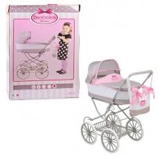 Большая классическая коляска для куклы с сумкой
