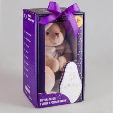 Мишка бежевый Drema BabyDou с белым и розовым шумом