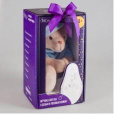 Мишка голубой Drema BabyDou с белым и розовым шумом