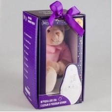 Мишка розовый Drema BabyDou с белым и розовым шумом