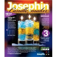 Гелевые свечи №1(баночки с гелем, стаканчики 3шт, фитиль 3шт, цветной песок, пакетик с блестками, нож, ложечка) (Фантазёр, 274001ФН)