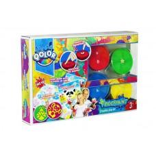 Краски пальчиковые с формами (божья коровка, обезьяна) для штампов , в наборе 4 цвета, альбом с 16 стр., блистер-упаковка. (FIVE STARS, 991-17)