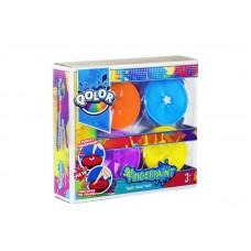 Краски пальчиковые с формами для штампов, в наборе 4 цвета, блистер-упаковка. (FIVE STARS, 998-17)