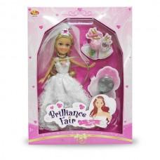 Кукла Невеста Brilliance Fair 26,7 см, с расческой, кольцом и букетом (FUNVILLE, 240220пц)