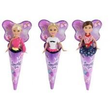 Sparkle Girlz. Кукла-модница, в рожке, 12шт в дисплейной коробке, 3 вида в ассортименте, 14.5x5x33.5см