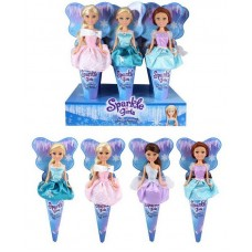 "Sparkle Girlz. Кукла, в рожке, ""Зимняя версия"", 12шт в дисплейной коробке, 14.5 x 5 x 33.5см"