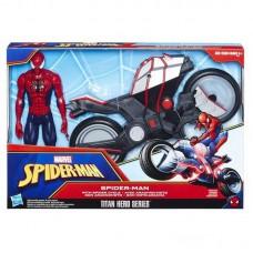 SPIDER-MAN. Титаны Человек-Паук и мотоцикл.