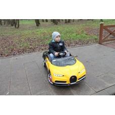 Детский электромобиль Bugatti Chiron HL318 (Лицензия) Желтый