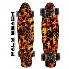 "Скейтборд 22"" TLS-401G Led Print Palm Beach"