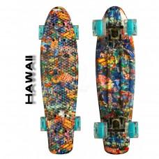 """Скейтборд 22"""" TLS-401G Led Print Hawaii"""