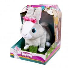 Кролик Betsy интерактивный, реагирует на голос, прыгает и шевелит ушками, со звуковыми эффектами