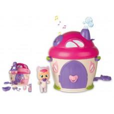 CRY BABIES MAGIC TEARS Игровой набор: Плачущий младенец Кэти в комплекте с домиком и аксессуарами