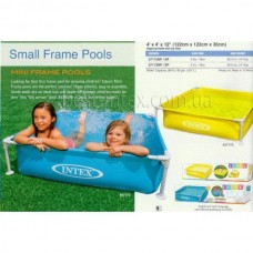 "Бассейн каркасный ""Mini Frame Pool"", голубой, 121х121х31 см, от 3 лет"