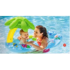 """Плот надувной для детей """"Пальма"""", с навесом (INTEX, int56590NP)"""