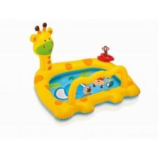 Бассейн для малышей ЖИРАФ, 1-3 года, 111,76х91,44х71,12см (INTEX, int57105NP)