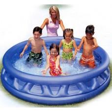 "Бассейн надувной ""Soft Side Pool""ребристый,серый 188х46 см. (Китай) (INTEX, int58431NP)"