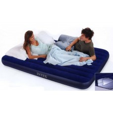 Матрац-кровать надувной DOWNY 183х203х13 см. син. (Китай) (INTEX, int68755)