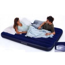 Матрац-кровать надувной DOWNY 99х191х22 см. син. (Китай) (INTEX, int68757)