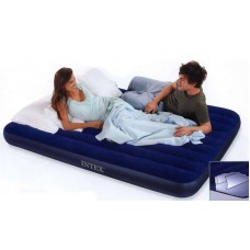 Матрац-кровать надувной Downy 152х203х22 см. син. (Китай)
