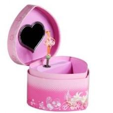 Шкатулка в форме сердечка маленькая музыкальная,12,6х11,5х8,7см (Jakos Hong Kong LTD, 10000)