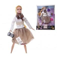 Кукла ABtoys Emily Модница с клатчем, глобусом и аксессуарами 30см