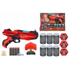 Бластер, в наборе с мягкими снарядами 14 шт