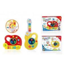 Игрушка для малышей. Гитара/музыкальный центр, 2в1, со световыми и звуковыми эффектами , 27х12,5х33 см