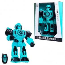 """Робот """"PLANET WARRIOR"""" на радиоуправлении (цвет синий), со световыми и звуковыми эффектами , 30х14,5х39 см"""