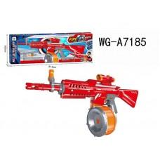 Автомат, стреляющий мягкими снарядами, в наборе с барабаном для снарядов, 40 снарядов.