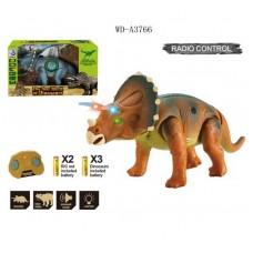 Динозавр Трицератопс р/у, световые и звуковые эффекты, 39х16х23 см