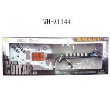 Гитара электрическая+микрофон, звук и свет 25,5х7,5х72,5 см