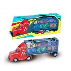 """Машина """"Автовоз"""" в комплекте с металлическими машинками, без механизмов, 38х9х14 см"""
