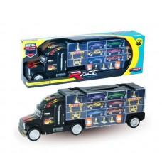 """Машина """"Автовоз"""" в комплекте с металлическими машинками и дорожными знаками, без механизмов, 49х10х17 см"""