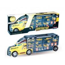 """Машина """"Автовоз"""" в комплекте с металлическими машинками и дорожными знаками, без механизмов, 56х12х18 см"""