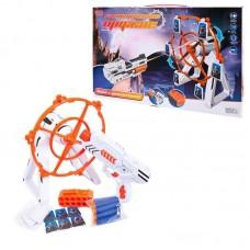 """Бластер с тиром """"Галактические оружие"""" (набор бластер с мягкими пулями и установка для мишеней), свет, звук, в коробке, 42х26,5х9см"""