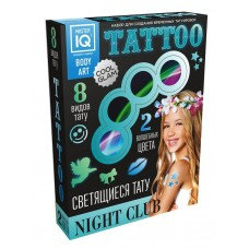Набор для создания временных татуировок NIGHT СLUB (светящиеся) (КАРРАС, C005)