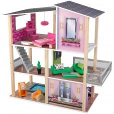 KidKraft Стильный коттедж - кукольный домик с мебелью