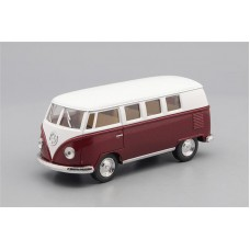 Машинка Kinsmart VOLKSWAGEN Classical Bus (1962), white / vinous