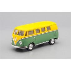 Машинка Kinsmart VOLKSWAGEN Classical Bus (1962), matte yellow / matte green