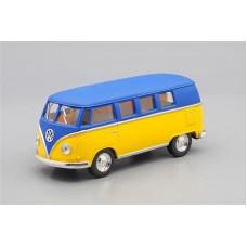 Машинка Kinsmart VOLKSWAGEN Classical Bus (1962), matte blue / matte yellow